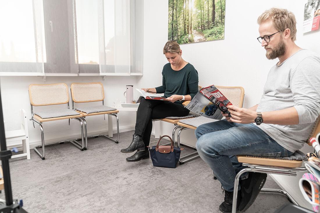 Hausarzt Sillenbuch - Ellinger - Wartezimmer unserer Praxis